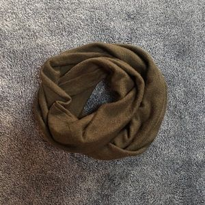 Accessories - dark olive knit infinity scarf